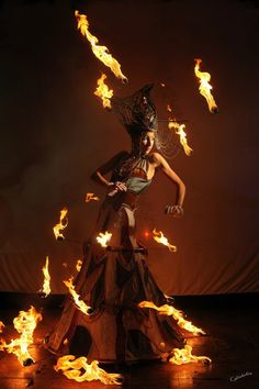 Magmafire Theater. Photo by Cylinderfire. Hungary 2012. Costume designed and made by the late Linda Farkas.