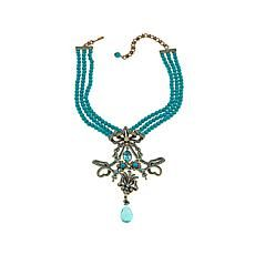 "Heidi Daus ""Royal Therapy"" Beaded Crystal Drop Necklace"