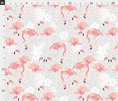 Tropicana Flamingo (Grey) Custom Fabric designed by Nouveau Bohemian. Printed on Organic Cotton Knit, Linen Cotton Canvas, Organic Cotton Sateen, Kona Cotton, Basic Cotton Ultra, or Cotton Poplin fabric. Available in yards and quarter yards (fat quarter). This fabric is digitally printed on demand as orders are placed. Unlike conventional textile manufacturing, very little waste of fabric, ink, water or electricity is used. We print using eco-friendly, water-based inks on natural and…