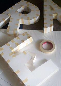 Idee per realizzare lettere di carta in 3D