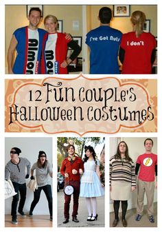 Dressing up for Halloween never gets old, even if you're all grown up. Here are 12 Fun Couples Halloween Costume Ideas   {to pin individual ideas, please click on the image or the highlighted name and pin from the source}         Alice & the White Rabbit – Keiko Lynn …