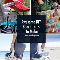 Awesome DIY Beach Totes To Make fashion diy diy ideas diy projects diy fashion beach totes