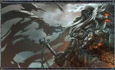"Darksiders concept art of WAR by Joe ""MAD!"" Madureira"
