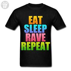 Eat Sleep Rave Repeat Men's T-Shirt by Spreadshirt, M, black (*Amazon Partner-Link)