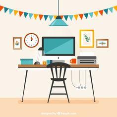 Art 6 Photoshop Rendering, Flat Design Illustration, Workspace Inspiration, Digital Art Tutorial, Paper Houses, Living Room Art, Collage, Design Projects, Designer