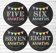 Monthly Baby Stickers Baby Girl Month Stickers por MaddiesMomE