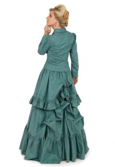 Victorian Suit, made from calico, softly bustled. Modern Reproduction, sold by Recollections.