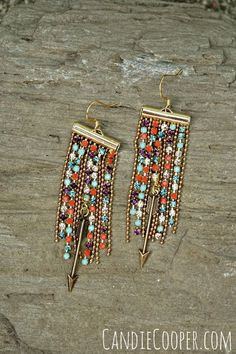 DIY Jewelry Making Fringe Earrings by Candie Cooper