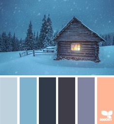 winter night - color palette from Design Seeds Colour Pallette, Color Palate, Color Azul, Colour Schemes, Color Combos, Color Patterns, Design Seeds, Paint Paint, Winter Night