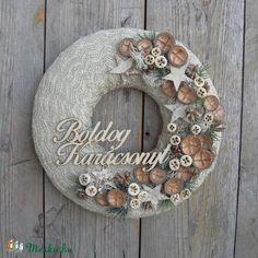 Aranyló - karácsonyi ajtódísz (anniesdesign) - Meska.hu