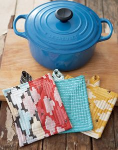 simple quilted pot holder diy