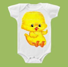 Yellow Baby Chick Baby Chick One PieceChick by ChiTownBoutique