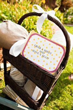"picnic wedding ""Grab a Blanket""."