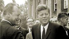 John F Kennedy, Willy Brandt, 1963. West Berlin