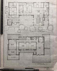 Japanese Architecture, Architecture Plan, Hand Sketch, Japanese House, Technical Drawing, House Plans, New Homes, Floor Plans, House Design