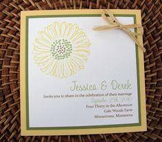 Sunflower Wedding Invitation-
