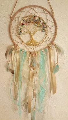 Tree of Life Dream Catcher with cats eye by PrettyThingz4UByMe