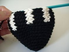 example of stranding colorwork in crocheting