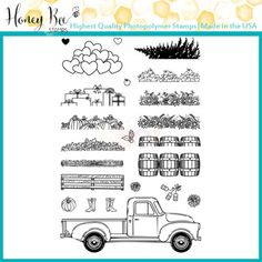 Honey Bee Clear Stamp Set - Little Pickup