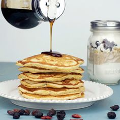 Pancakes in a jar. This Mixed Berry Multigrain Pancake Mix makes a great homemade gift.