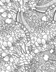 465 best Floral Coloring Pages for Adults images on Pinterest in ...