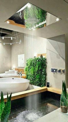 Would love this as an integrated indoor / outdoor bathroom.