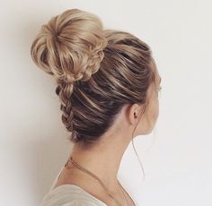 #elegant Bun Hairstyle for party time