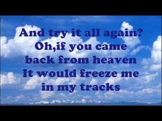 "Lorrie Morgan - If You Came Back From Heaven (Lyrics On Screen) REMEMBER, ENERGY NEVER DIES NOR DIMINISHES! THOSE WE LOVE ARE NEVER GONE!  ""FOR ALL THOSE WHO LOST THEIR PARTNERS/FRIENDS!<3 TO MY SWEET ELLEN, GONE NOT FORGOTTEN! <3"