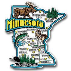 Minnesota State Jumbo Magnet