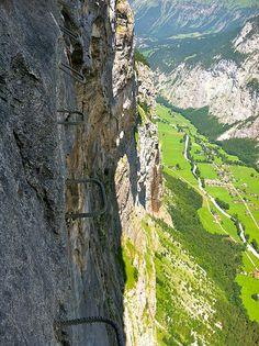Via Ferrata Murren Switzerland by louisa pickering, via Flickr