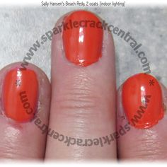 Sally Hansen's Beach Redy (832) - limited-edition red-orange creme, part of the Summer 2014 Beach Paradise collection