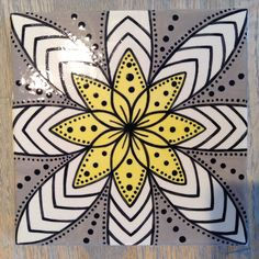 Mandala Tile | Paint Your Own Pottery | Paint Your Pot | Cary, North Carolina