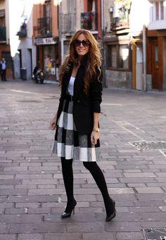 skirt – Zara, Blazer – Mango, bag - Aïta