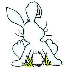 8720 - Bunny Back Rubber Stamp - Sku: E784