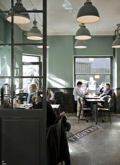 Industrial lighting & clocks @ Granola Cafe 1