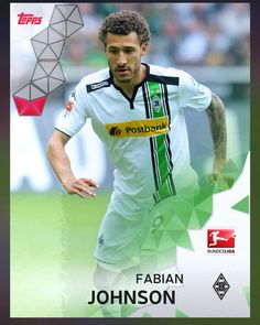 Fabian Johnson Borussia Mönchengladboch (Bundesliga) Red Parallel Card 2016 Topps KICK