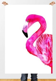 Flamingo, 50x70 cm (19,7x27,5 inch). $55.00, via Etsy.