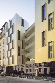 Sozialer Wohnungsbau in Paris / Veritable Schaufassade - Architektur und Architekten - News / Meldungen / Nachrichten - BauNetz.de