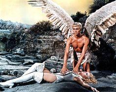 Jane Fonda Barbarella John Phillip Law barechested with wings 11x14 Photo