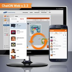 [ChatON Web v.3.3 Update] ChatON Web v.3.3 is updated! / Automatic Chat list synchronization with your phone for comfortable chatting Monologue Chat room feature for taking down momentary ideas and short memos is added. Meet the upgraded web ChatON right now! ChatON Web v.3.3 버전이 출시되었습니다.  이제, 웹 챗온에서도 단말과 동일하게 정렬된 대화 목록으로 더 편하게 대화를 이어갈 수 있고, 그때 그때 생각나는 아이디어와 짧은 메모를 할 수 있는 독백 채팅방도 사용할 수 있습니다. 업그레이드 된 웹 챗온에 지금 바로 접속 해보세요!