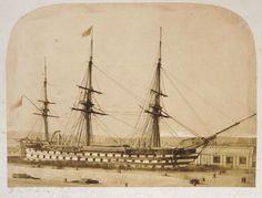 Old Sailing Ships, Battle Ships, Ship Of The Line, Man Of War, Ship Paintings, Sail Boats, Navy Ships, Boat Building, Royal Navy