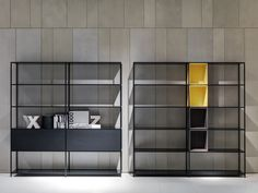 OPEN ALUMINIUM BOOKCASE MINIMA 3.0 MINIMA COLLECTION BY MDF ITALIA | DESIGN FATTORINI + RIZZINI + PARTNERS