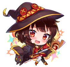 Konosuba Anime, Anime Chibi, Megumin Explosion, Gamer Tattoos, Japanese Cartoon, Anime Stickers, Cute Chibi, Anime Shows, Funny Relatable Memes