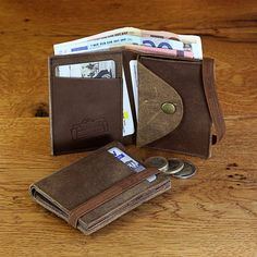 Leather Wallet, Men wallets, Limited Edition, 01 from 05 - One of A kind leather wallet, Made out of Up-Cycled Leather