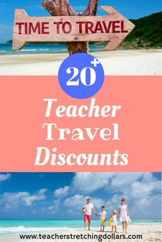 Looking for ways to save on travel? Check out our teacher travel discounts. Summer Jobs For Teachers, New Teachers, Elementary School Counselor, Elementary Schools, School Counseling, Traveling Teacher, Teacher Freebies, Teacher Discounts, End Of School Year