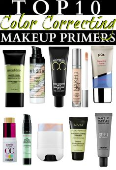 Top 10 Color Correcting Makeup Primers - multi-task with these two-in-one beauty power houses! Prime and color correct for a flawless finish.