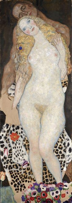 Gustav Klimt - Adam And Eve fine art preproduction . Explore our collection of Gustav Klimt fine art prints, giclees, posters and hand crafted canvas products Gustav Klimt, Art Klimt, Art Nouveau, Adam Et Eve, Oil Painting Reproductions, Art Moderne, Oeuvre D'art, Erotic Art, Painting & Drawing