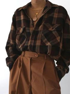 Retro Outfits, Cute Casual Outfits, Fall Outfits, Vintage Outfits, Flannel Outfits, Indie Outfits, Vintage Clothing Styles, Grunge Outfits, Hijab Casual