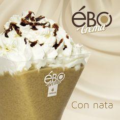 Ébo crema sabor cappuccino con nata