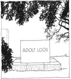 Adolf Loos, 1870-1933, Zentralfriedhof, Wien, Austria | drawn by Riccardo Salvi